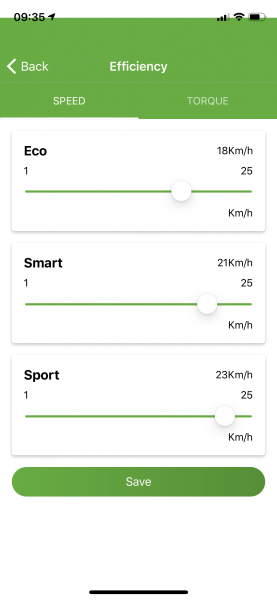 Pendix App snelheid annpassen 001